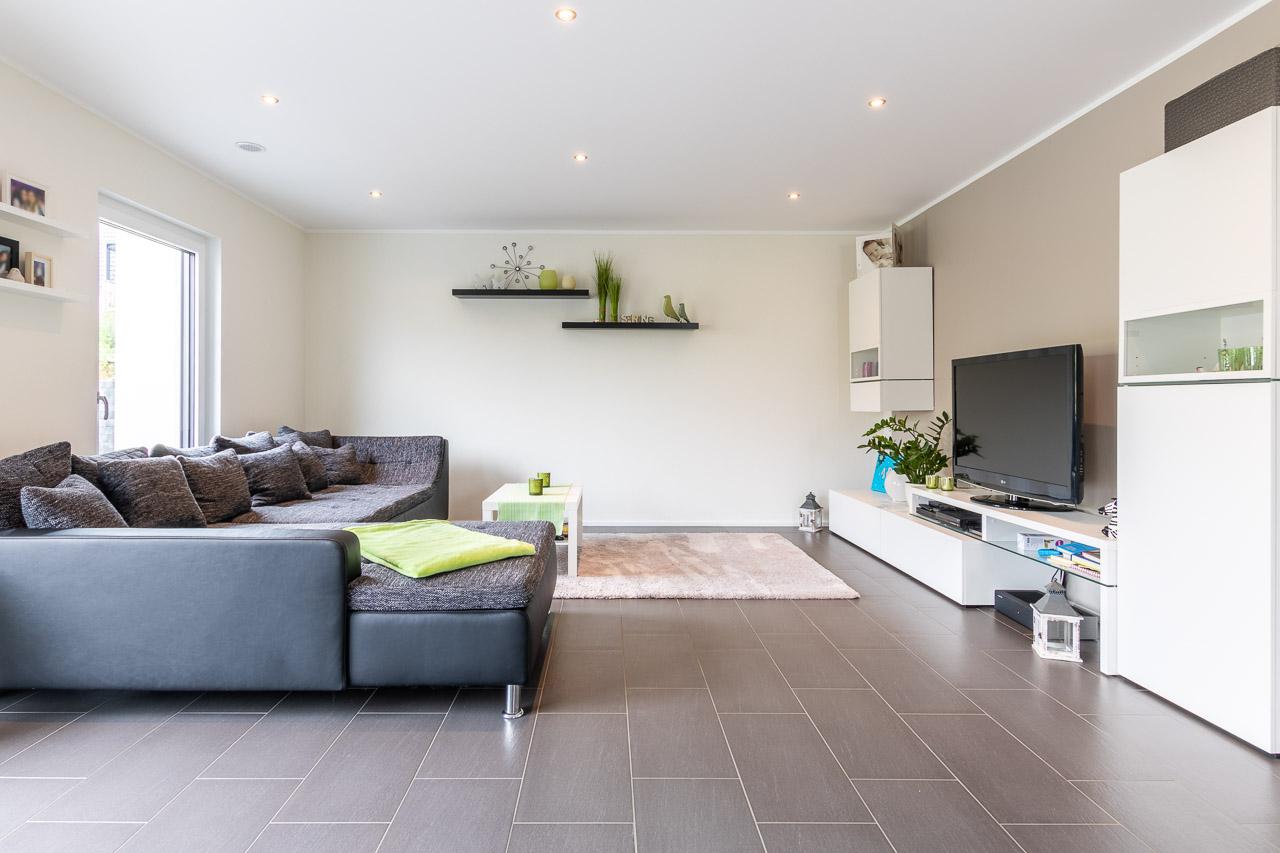 Ausbauhaus Einfamilienhaus Bauen Wohnzimmergestaltung