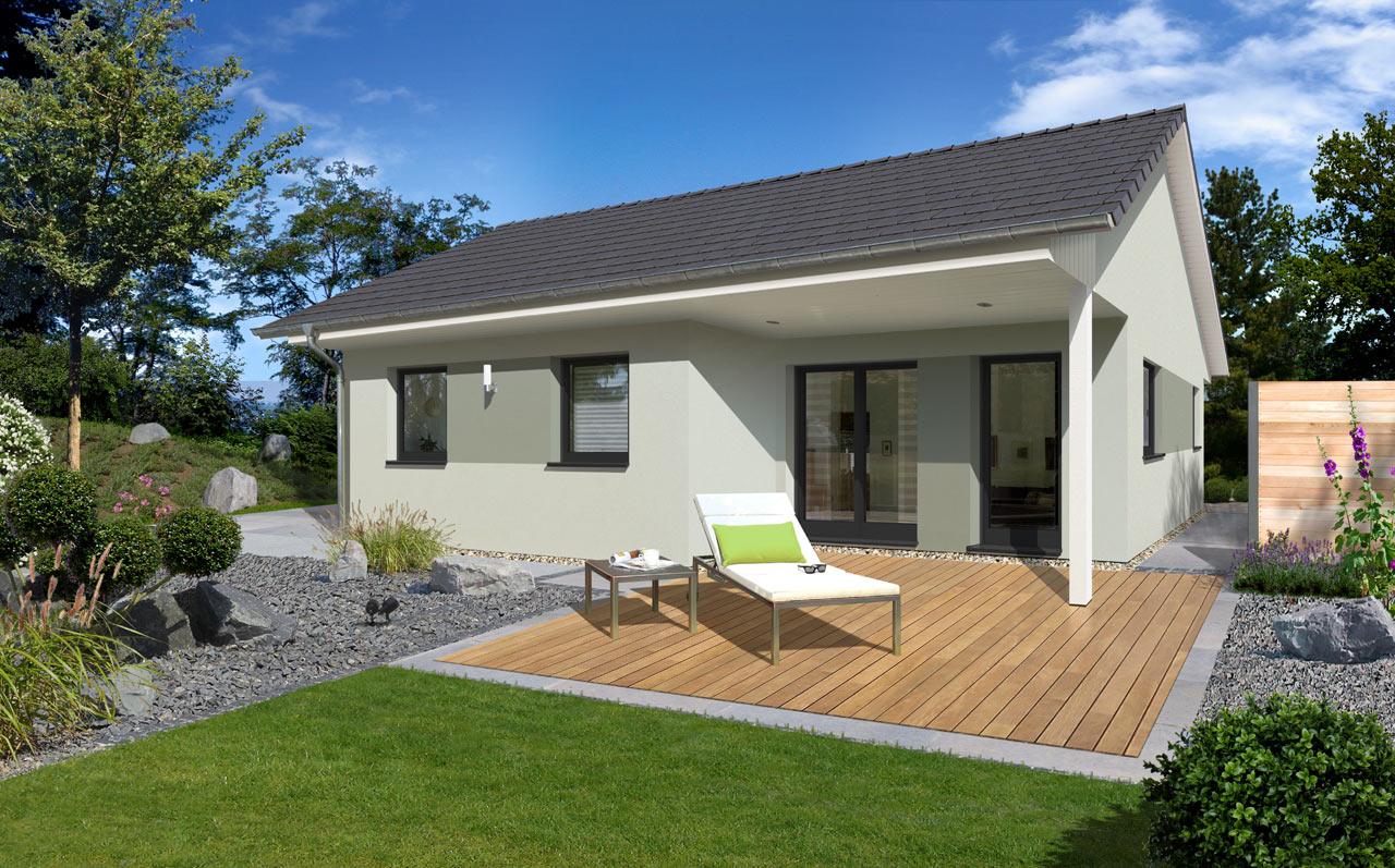bungalow mit satteldach bauen mit streif. Black Bedroom Furniture Sets. Home Design Ideas