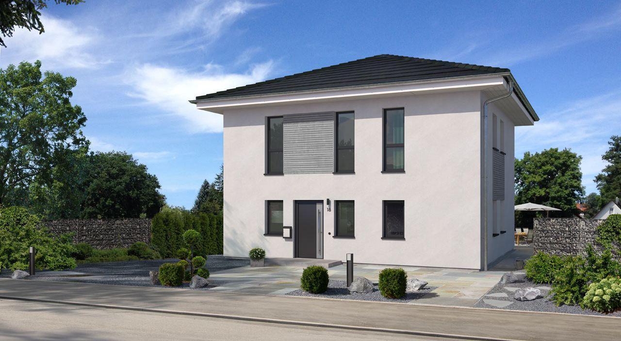 stadtvilla hausentwurf city - wd 1000 basis, bauen mit streif