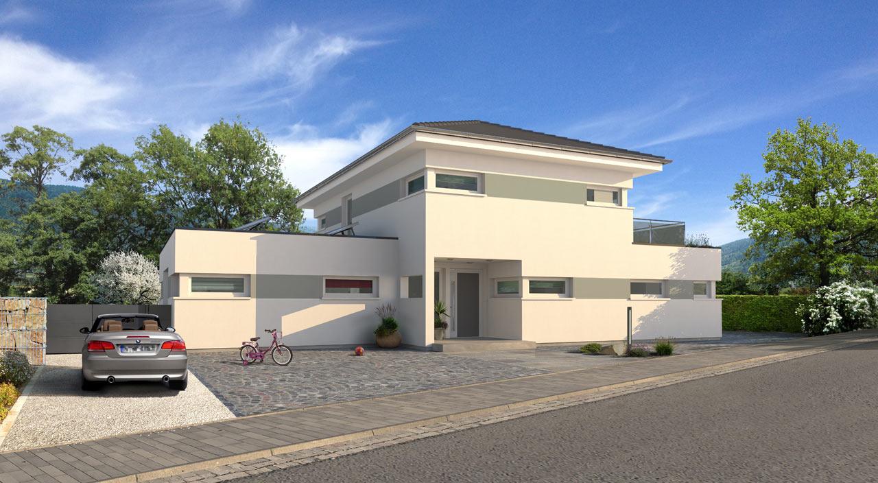 Exklusive Stadtvilla Bauen Mit Streif Hausentwurf City Wd 1007