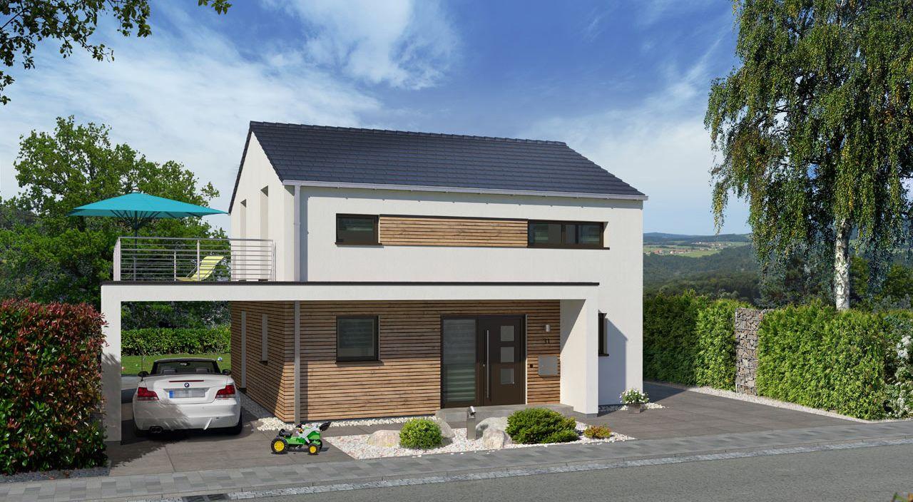 Einfamilienhaus Bauen Mit Streif Family Sd 2502 Mit Carport Und