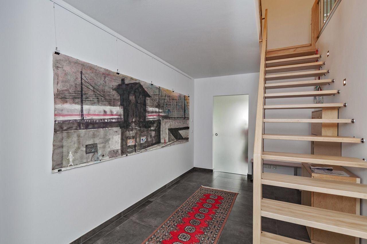 Kundenhaus Referenz Fertighaus Bauen Treppenaufgang