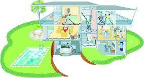 Zentralstaubsauger für ein Mehrfamilienhaus vpn STREIF