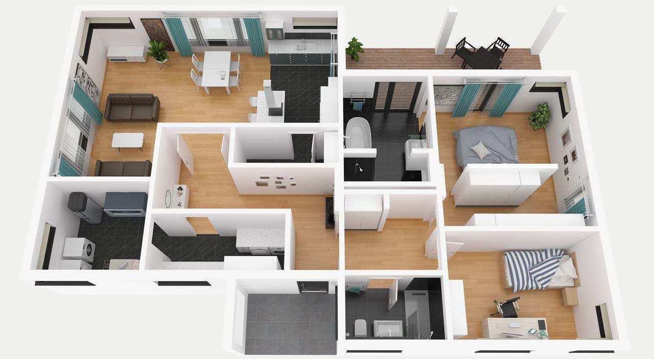 Fertighaus bungalow grundriss  Bungalow bauen mit STREIF