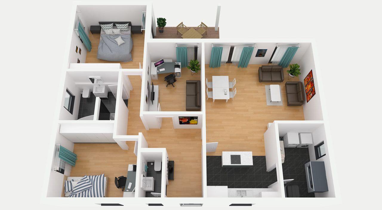 bungalow grundriss. Black Bedroom Furniture Sets. Home Design Ideas