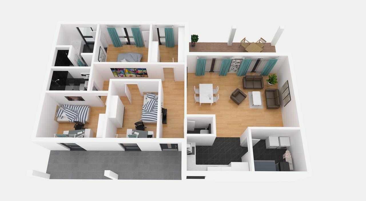 bungalow bauen mit streif. Black Bedroom Furniture Sets. Home Design Ideas