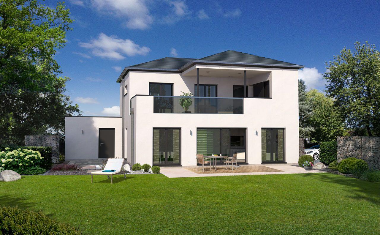 stadthaus bauen mit streif. Black Bedroom Furniture Sets. Home Design Ideas
