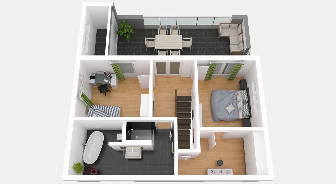 Entwurf 1   Obergeschoss