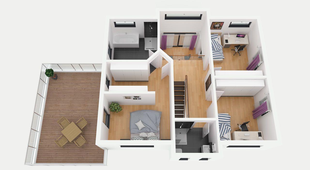 Entwurf 2   Dachgeschoss