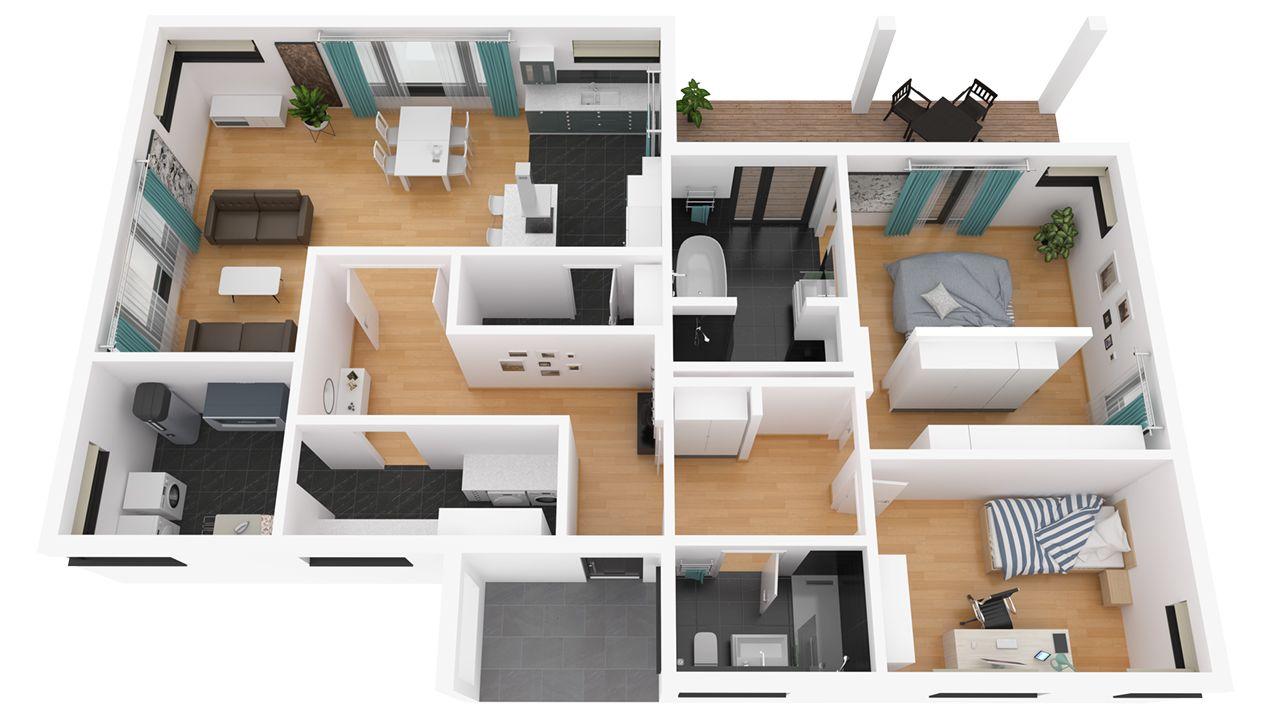 Streif haus g nzburg bungalow for Architektenhauser inneneinrichtung