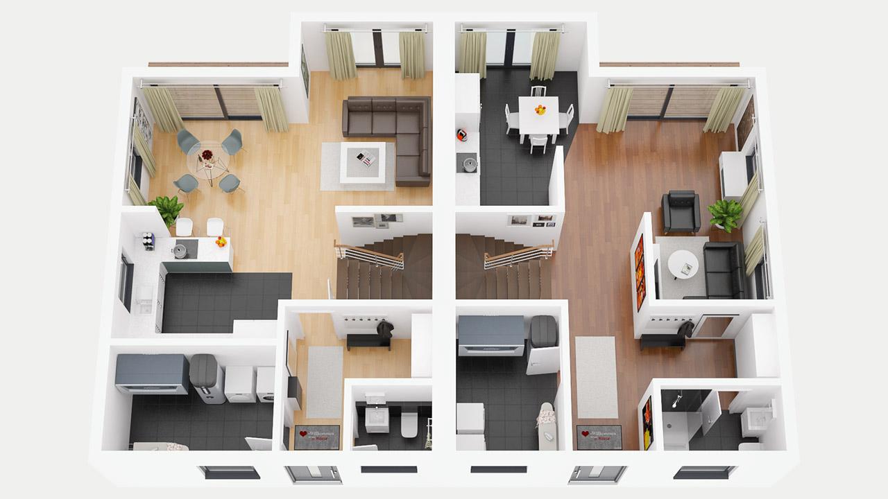 Entwurf 1   Erdgeschoss