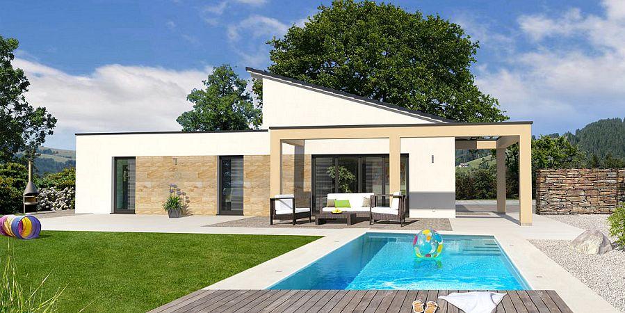Mini bungalow fertighaus cheap bungalow fertighaus with for Mini fertighaus gunstig
